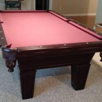 Fischer Slate Pool Table, 2 Chairs, 6 Pool Sticks and Accessories