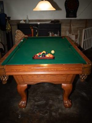 American Heritage 7' Slate Pool Table and Accessories