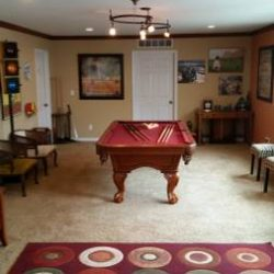 American Heritage claw foot pool table