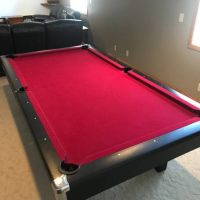 9' Black Brunswick Contender Pool Table For Sale